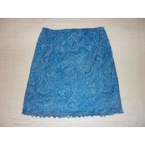 Falda Marca Jm Color Azul Talla Mediana