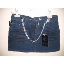 Minifalda Para Dama Talla 10 Color Azul De Mezclilla Nueva