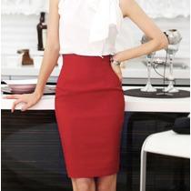 Falda Formal Elegante Corta Moderna De Trabajo Eventos 2354