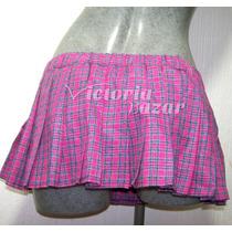 Minifalda Escocesa Color Rosa Con Azul Talla Grande