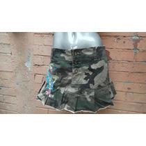 Minifalda Twenty One 21 T/28-30 Chica Verde Militar Tessa Bo