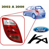 02-08 Ford Ka Calavera Trasera Sin Arnes Lado Izquierdo