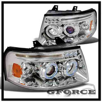 Faros Proyectores Cromados Ford Expedition 03 04 05 06 Angel