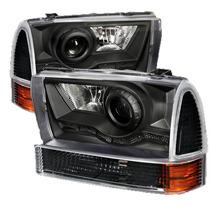 Faros De Lupa Negros + Direccionales Ford F250 99 04