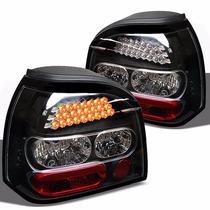 Calaveras Led Negras Para Volkswagen Golf 1993 - 1998