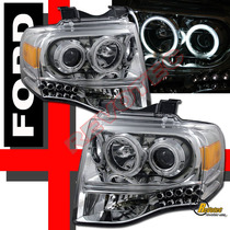 Faros Proyectores Cromados Ford Expedition 07 - 12 Cromo