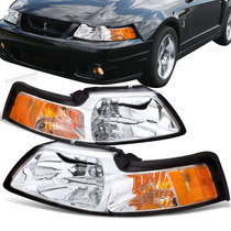 Faros Cromados Ford Mustang 99-04,envio Inmediato,accesorios