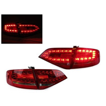 Calaveras Led Estilo Rs4 Para Audi A4 B8 Sedan 2009 - 2012