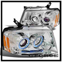 Faros Proyectores Cromados Ford F150 - Lobo 04 05 06 07 08