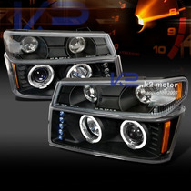 Faros Chevrolet Colorado / Canyon, Ojos De Angel, Lupa, Leds