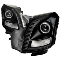 Faros De Lupa Negros Para Cadillac Cts 2003 - 2007
