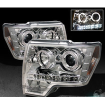 Faros Ojo De Angel + Led Para Ford F150 2010