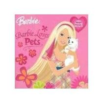 Barbie Libro Con Calcamonias Perritos Gatitos Peces Tortugas
