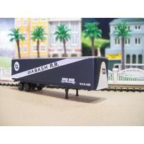 Trenes Escala N 1/160 Caja De Trailer Con-cor Wabash Rr (c4)