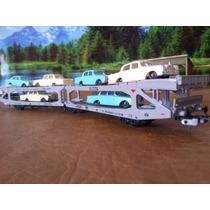 H6k Trenes Escala Ho Lima Vagon Madrina Doble Carga 6 Autos