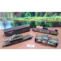 H7f Trenes Escala Ho Set 4 Vagones Militares $350 X Pza.