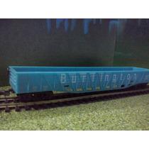 Tren Vagon Gondola Azul Burlington Esc Ho Maqueta Trenes Js