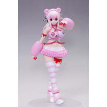 Super Sonico Sexy Figura Reina Rosa Con Globos A Escala 1/8