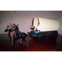 Exin Boys Carreta Del Oeste Vintage Figuras Playmobil Indios