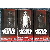 Kylo Ren, Darth Vader Y Stormtrooper Star Wars 6 Inch Hasbro