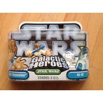 Star Wars Galactic Heroes Luke Skywalker Y R2-d2