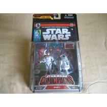 2007 Star Wars Dh Comic Packs #6 Luke Skywalker And R2-d2