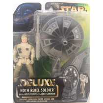 Star Wars Deluxe Hoth Rebel Soldier With Laser Cannon