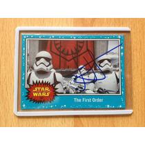 Tarjeta Autografiada Jj Abrams The Force Awakens First Order