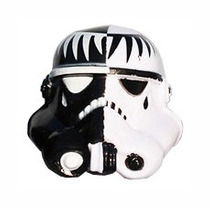 Helmet Custom Trooper Head Mod Black And White Star Wars S6