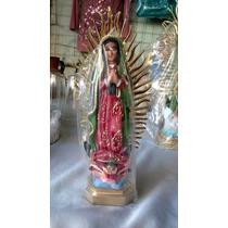 Virgen De Guadalupe 20cm Con Resplandor Resina Fina!