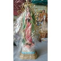 Virgen De Guadalupe 30cm Con Resplandor Resina Fina!