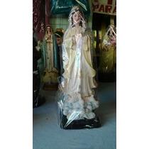 Virgen De Fatima En Resina 30cm