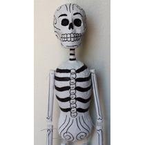 Marioneta Calaca Barro Y Papel Maché - Sólo 29, 30 Y 31 Oct