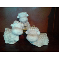 Alcancias Borrego 3 Posiciones Yeso Ceramico Para Pintar