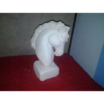 Alcancia De Yeso Ceramico Blanco Para Pintar Corcel Busto