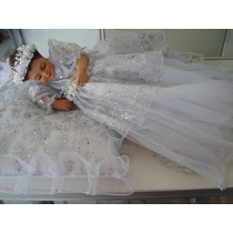 Divina Infantita Con Vestido 35cm Resina Ojito Cerrado