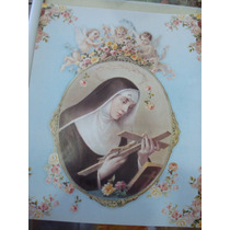 Hoja Tipo Poster Para Cuadro Santa Rita De Casia 20x25