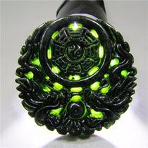 Pieza De Jade Chino 2 Dragones Artesanía Tallado En Piedra
