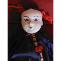 Muñeca Tradicional Oriental Antigua De Porcelana Doll