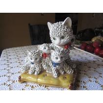 Figura De Gatos De Porcelana Italiana