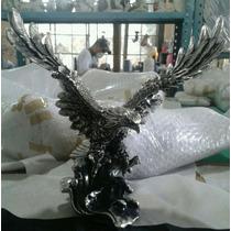 Figura Decorativa Águila Mediana Plata 999 Electroformado