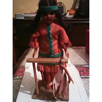 Vintage Muñeca Antigua Indien Art Eskimo