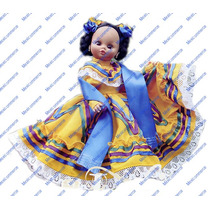 Muñeca Tradicional De Jalisco, Traje Hecho A Mano