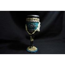 Copa Mano Esqueleto (aguamarina Metálico)