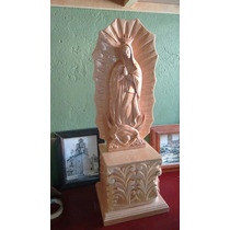 Virgen De Guadalupe Tallada A Mano En Madera