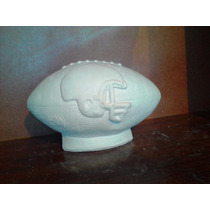 Alcancia De Yeso Ceramico Blanco Para Pintar Balon Grande