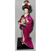 Muñeca Japonesa Geisha Marca Riren Craftwork 27 Cm
