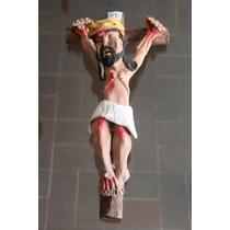 Cristo Peruano De Barro Artista Cristobal Mamani