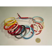 Juguete Antiguo Pulseras De Colores En Plástico Antiguo 22