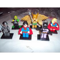 Set De 6 Figuras Lego Batman Superman Hawkman Super Chica